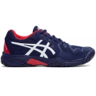 Asics Junior Gel Resolution 8 GS Tennis Shoes (Peacoat/Classic Red) -