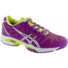 Asics Women's GEL-Solution Speed 2 Tennis Shoes (Grape/Silver/Green) - Asics Tennis Shoes