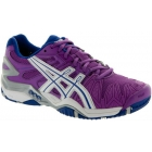 Asics Women's Gel Resolution 5 Shoes (Grape/ White/ Silver) - Asics Tennis Shoes
