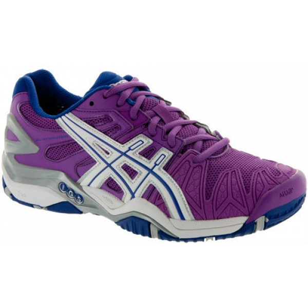 Asics Women's Gel Resolution 5 Shoes (Grape/ White/ Silver)