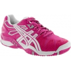 Asics Women's Gel Resolution 5 Shoes (Fuschia/ White/ Silver) - Asics Tennis Shoes