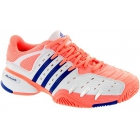 Adidas Women's Barricade V Classic Tennis Shoes (Peach/ White/ Navy) - Adidas Barricade V Classic Tennis Shoes