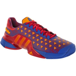 new product 2f964 f9d26 Adidas Mens Barricade 2015 Saksaywaman Tennis Shoes (Red Blue)