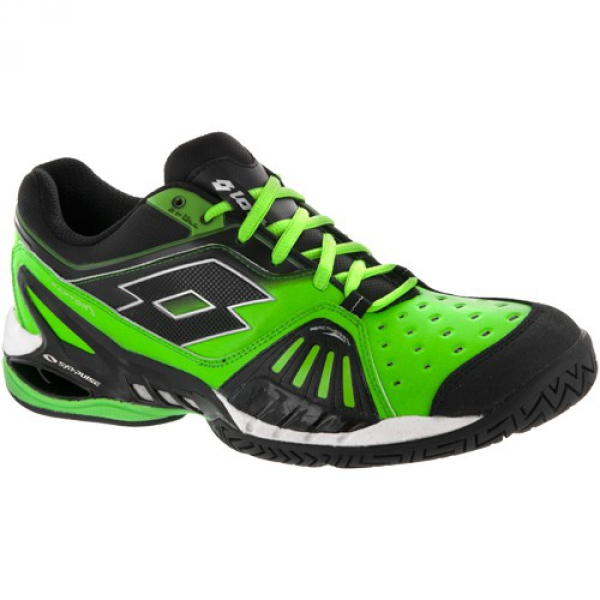 Lotto Men's Raptor Ultra IV Tennis Shoes (Bright Green /Black)