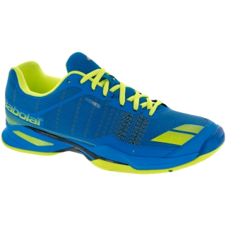 Babolat Men's Jet Team All Court Tennis Shoes (Blue/Yellow)