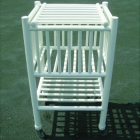 Har-Tru PVC Ball Cart - Courtmaster Tennis Ballhoppers