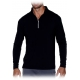 Bloq-UV Men's Mock Zip Long Sleeve Top - Men's Tops Long-Sleeve Shirts Tennis Apparel