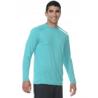 BloqUV Men's Long-Sleeve Sun Protective Jet Tee (Caribbean Blue) - Men's Long-Sleeve Shirts