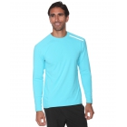 BloqUV Men's Long-Sleeve Sun Protective Jet Tee (Light Turquoise) - Men's Long-Sleeve Shirts