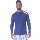BloqUV Men's Long-Sleeve Sun Protective Jet Tee (Navy) - Bloq-UV