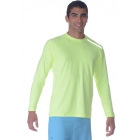 BloqUV Men's Long-Sleeve Sun Protective Jet Tee (Neon Yellow) - Bloq-UV