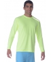 BloqUV Men's Long-Sleeve Sun Protective Jet Tee (Neon Yellow) - Discount Tennis Apparel