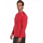 BloqUV Men's Long-Sleeve Sun Protective Jet Tee (Red) - Bloq-UV Men's Tennis Apparel