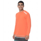 BloqUV Men's Long-Sleeve Sun Protective Jet Tee (Tangerine) - Bloq-UV Men's Tennis Apparel
