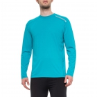 BloqUV Men's Long-Sleeve Sun Protective Jet Tee (Teal) - Bloq-UV Men's Tennis Apparel