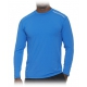 Bloq-UV Men's Jet-Tee Long Sleeve Top (Ocean Blue) - Men's Tops Tennis Apparel