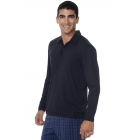 BloqUV Men's UPF 50+ Long-Sleeve Collared Shirt (Black) - Bloq-UV