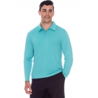 BloqUV Men's UPF 50+ Long-Sleeve Collared Shirt (Caribbean Blue) - Bloq-UV