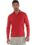 BloqUV Men's UPF 50+ Long-Sleeve Collared Shirt (Red) - Discount Tennis Apparel