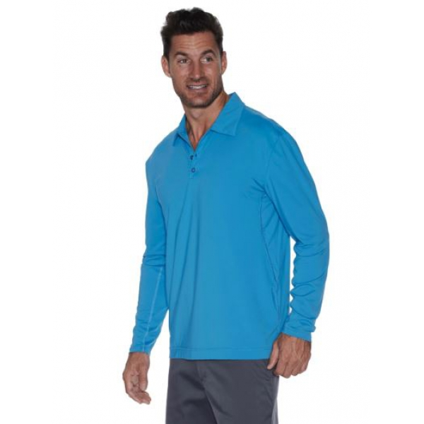 BloqUV Men's UPF 50+ Long-Sleeve Collared Shirt (Teal)