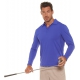BloqUV Men's UPF 50+ Long-Sleeve Collared Shirt (Twilight Blue) - Discount Tennis Apparel