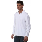 BloqUV Men's UPF 50+ Long-Sleeve Collared Shirt (White) - Bloq-UV