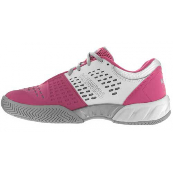 k swiss junior bigshot light 2 5 tennis shoes white pink