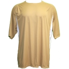 A4 Men's Performance Color Block Crew Shirt (Vegas Gold) CLOSEOUT - A4