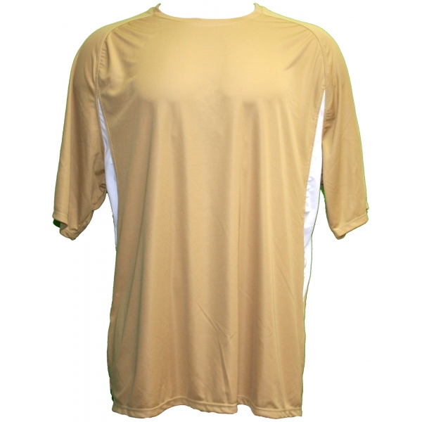 A4 Men's Performance Color Block Crew Shirt (Vegas Gold) CLOSEOUT