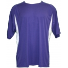 A4 Men's Performance Color Block Crew Shirt (Purple) - Tennis Apparel