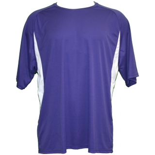 A4 Men's Performance Color Block Crew Shirt (Purple) CLOSEOUT