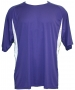 A4 Men's Performance Color Block Crew Shirt (Purple) CLOSEOUT - St. Patrick's Day Apparel Sale - Up to 80% Off!