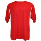 A4 Men's Performance Color Block Crew Shirt (Red) - Tennis Apparel