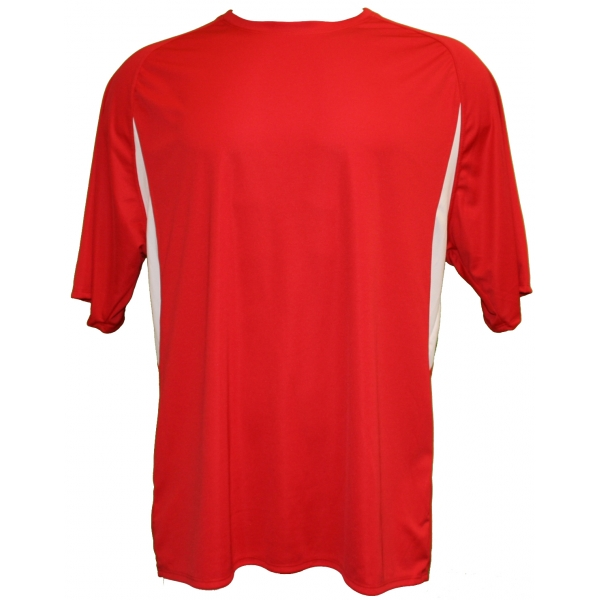 A4 Men's Performance Color Block Crew Shirt (Red)