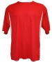 A4 Men's Performance Color Block Crew Shirt (Red) - A4 Men's T-Shirts & Crew Necks Tennis Apparel