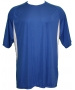 A4 Men's Performance Color Block Crew Shirt (Royal) CLOSEOUT - Discount Tennis Apparel
