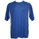 A4 Men's Performance Color Block Crew Shirt (Royal) CLOSEOUT - A4