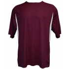 A4 Men's Performance Color Block Crew Shirt (Maroon) CLOSEOUT - Brands