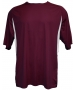 A4 Men's Performance Color Block Crew Shirt (Maroon) CLOSEOUT - Men's Tops