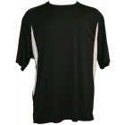 A4 Men's Performance Color Block Crew Shirt (Black) - Tennis Apparel
