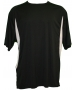A4 Men's Performance Color Block Crew Shirt (Black) CLOSEOUT - Discount Tennis Apparel