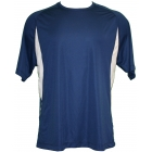 A4 Men's Performance Color Block Crew Shirt (Navy) CLOSEOUT - Brands