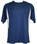 A4 Men's Performance Color Block Crew Shirt (Navy) CLOSEOUT - Discount Tennis Apparel