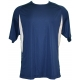 A4 Men's Performance Color Block Crew Shirt (Navy) CLOSEOUT - A4 Men's T-Shirts & Crew Necks