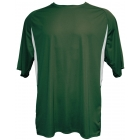 A4 Men's Performance Color Block Crew Shirt (Green) - Men's Tennis Apparel