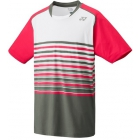 Yonex Men's Wawrinka Melourne Tennis Shirt (Pink/Grey) - Tennis Apparel
