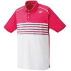 Yonex Men's Wawrinka Melourne Tennis Polo (Pink/Grey) - Men's Polo Shirts