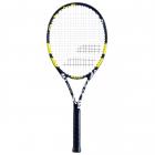 Babolat Evoke 102 Strung Tennis Racquet (Black/Yellow) -
