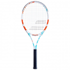 Babolat Evoke 102 Women's Strung Tennis Racquet (Blue/White/Orange) -