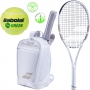 Babolat Wimbledon Pure Strike 26 Junior Racquet w/ Club Backpack + Dampeners + Green Transition Ball